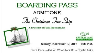 Christmas Tree Ship |  A Story of Faith, Hope and Love @ Park Place | Crystal Lake | Illinois | United States